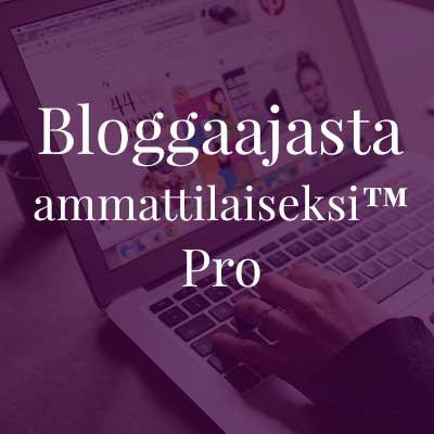 Bloggaajasta ammattilaiseksi™ Pro