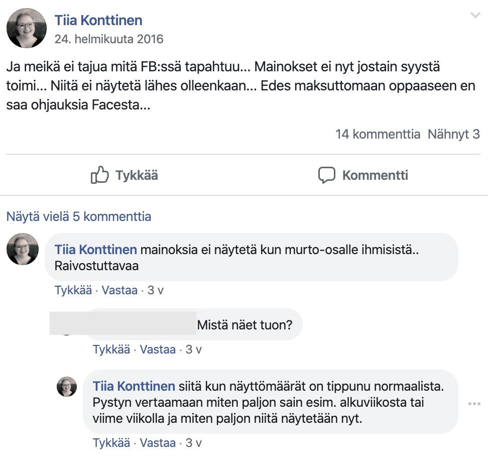 FB-mainos