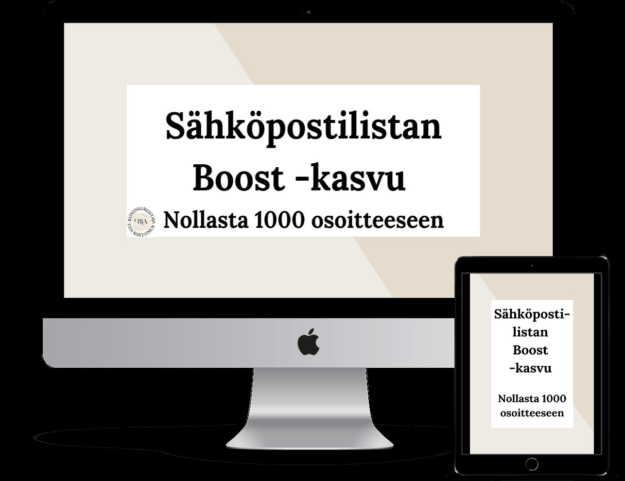 Sähköpostilistan Boost -kasvu (nollasta 1000 osoitteeseen)
